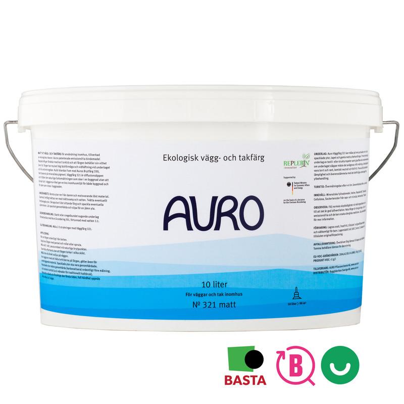 Väggfärg 321 Vit - 10 lit från Auro