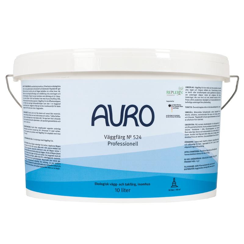 Väggfärg 524 Professionell Vit – 10 lit från Auro